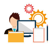 Business management  design. Business management and solutions design, vector graphic Stock Photo