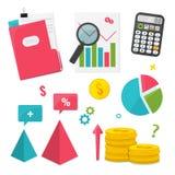 Business Management and Finance set stock illustration