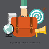 Business management. Flat business management background. Vector illustration Royalty Free Stock Photo