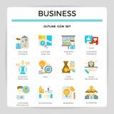 Business management flat design icon set. Business management flat design icon set for website, presentation, book etc Royalty Free Stock Image