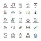 Business Management Flat Icons Pack. A colored flat icons set of business management with all related icons. A wide range including financial aspects, market Royalty Free Stock Photography