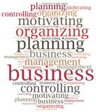 Business management functions. Word cloud illustration. Stock Photography