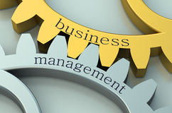 Business Management on the gearwheels Royalty Free Stock Photos