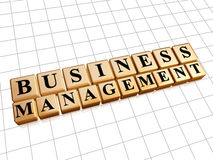 Business management in golden cubes Royalty Free Stock Photography