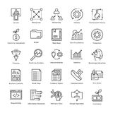 Business Management and Growth Vector Line Icons 4 Royalty Free Stock Images