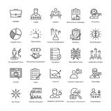 Business Management and Growth Vector Line Icons 12 Stock Image