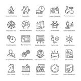 Business Management and Growth Vector Line Icons 13 Stock Photography