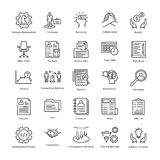 Business Management and Growth Vector Line Icons 6. This collection of business management and growth line  Icons is just what you need for your next business Royalty Free Stock Image