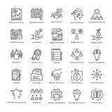 Business Management and Growth Vector Line Icons 18 Royalty Free Stock Photography