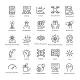 Business Management and Growth Vector Line Icons 22 Stock Photos