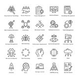 Business Management and Growth Vector Line Icons 24 vector illustration
