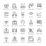 Business Management and Growth Vector Line Icons 23 Royalty Free Stock Images
