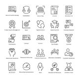 Business Management and Growth Vector Line Icons 29 Stock Image