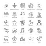 Business Management and Growth Vector Line Icons 34. This collection of business management and growth line  Icons is just what you need for your next business Stock Photos