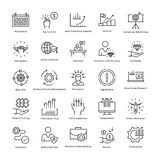 Business Management and Growth Vector Line Icons 35 Royalty Free Stock Images