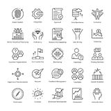 Business Management and Growth Vector Line Icons 37 Stock Images