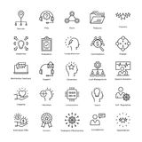 Business Management and Growth Vector Line Icons 33 Stock Image