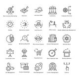 Business Management and Growth Vector Line Icons 44 Stock Images