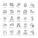 Business Management and Growth Vector Line Icons 45 Royalty Free Stock Photos