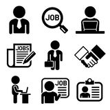 Business, Management and Human Job Resources Icons Royalty Free Stock Image