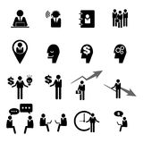 Business, management and human resource icons set eps 10 Royalty Free Stock Photos