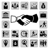 Business, management and human resource icons set Royalty Free Stock Photo