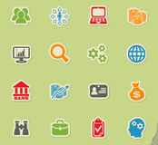Business management and human resources icon set Stock Images