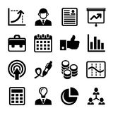 Business, Management and Human Resources Icons Set. Vector vector illustration