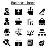 Business management icon set Stock Photography