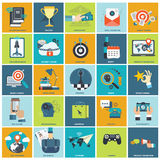 Business management icon set. Stock Images