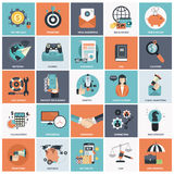 Business and management icon set. Royalty Free Stock Photo