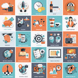 Business and management icon set. Stock Photo