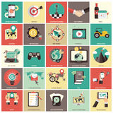 Business management icon set. Stock Photography