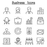 Business management icon set in thin line style Royalty Free Stock Photography