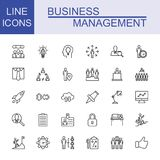 Business And Management Icon Set. Universal Business And Management Icons Royalty Free Stock Image