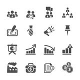 Business and management icon set 9, vector eps10 Royalty Free Stock Photos