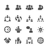 Business and management icon set 7, vector eps10 Stock Photos