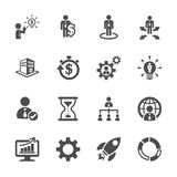 Business and management icon set 4, vector eps10 Stock Photo