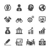 Business and management icon set 2, vector eps10 Royalty Free Stock Image