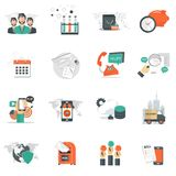 Business and management icon set for website development and mobile phone services and apps. Business, technology and management icon set for websites and mobile Stock Photo