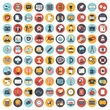 Business and management icon set for websites and mobile applications. Flat vector. Illustration stock illustration