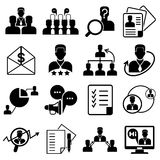 Business management icons. Collection of business management icons in white background Royalty Free Stock Image