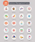 Business Management icons,Colorful version Stock Images