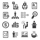 Business management icons Royalty Free Stock Photo