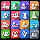 Business and Management Icons Royalty Free Stock Image