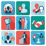 Business and management icons flat Royalty Free Stock Photos