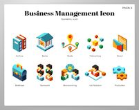 Business management icons Isometric pack stock illustration