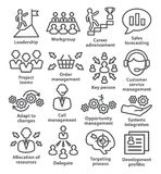 Business management icons in line style. Pack 02. Royalty Free Stock Photo