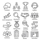 Business management icons in line style. Pack 03. Stock Photos