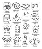 Business management icons in line style. Pack 23. Royalty Free Stock Photography